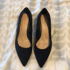 Zara Navy Blue Heels